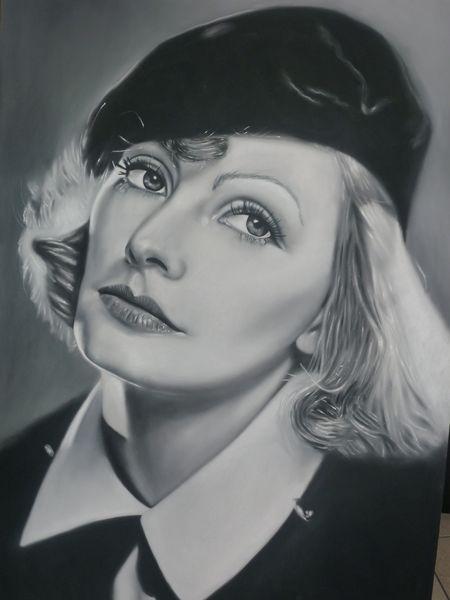 Greta Garbo by ricopainting